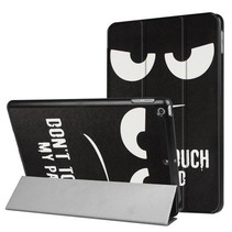 iPad 9.7 - Tri-Fold Book Case - Don't Touch My Pad