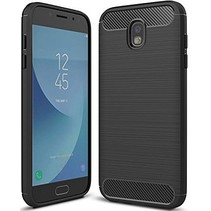 Geborstelde TPU Cover - Samsung Galaxy J5 2017 - Zwart