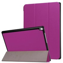 Lenovo Tab 4 10 Hoes - Tri-Fold Book Case Paars