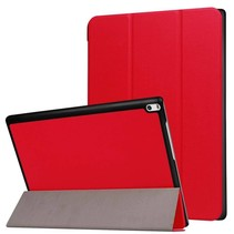 Lenovo Tab 4 10 Hoes - Tri-Fold Book Case Rood