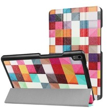 Lenovo Tab 4 8.0 Plus hoes - Tri-Fold Book Case - Blocks