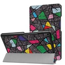 Lenovo Tab 4 8.0 Plus hoes - Tri-Fold Book Case - Retro