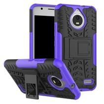 Motorola Moto E 4th gen Schokbestendige Back Cover Paars