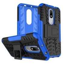 Motorola Moto M Schokbestendige Back Cover Blauw