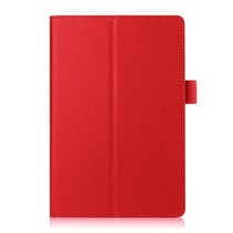 Lenovo Tab 4 8.0 - Litchi Flip Hoes - Rood