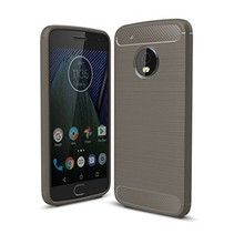 Geborstelde TPU Cover - Motorola Moto G5 Plus - Grijs