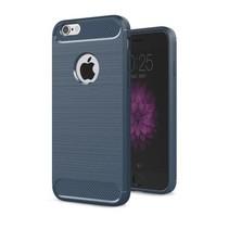 Geborstelde TPU Cover - iPhone 6 Plus / 6S Plus - Blauw