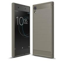 Geborstelde TPU Cover voor Sony Xperia XA1 Plus - Grijs