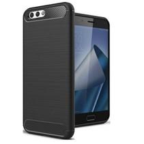 Geborstelde TPU Cover - Asus Zenfone 4 Max 5.2 ZC520KL - Zwart