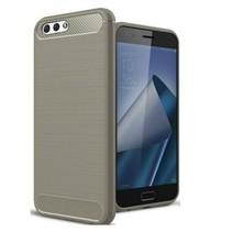 Geborstelde TPU Cover - Asus Zenfone 4 Max Pro 5.5 ZC554KL - Grijs