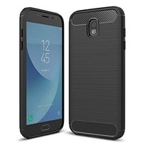 Geborstelde TPU Cover - Samsung Galaxy J7 2017 - Zwart