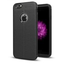 Litchi TPU Case - iPhone 6/6S - Zwart