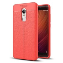Litchi TPU Case - Xiaomi Redmi Note 4 / Note 4X - Rood