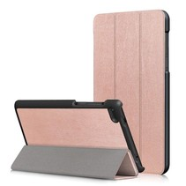 Lenovo Tab 4 7 Essential Hoes - Tri-Fold Book Case - Rose-Gold