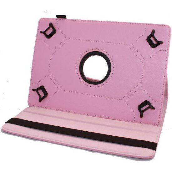 Case2go 9 inch tablet hoes 360 graden draaibaar Roze