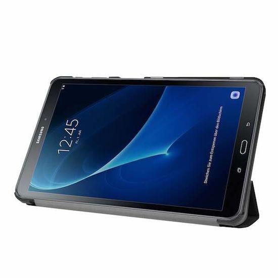 Case2go Samsung Galaxy Tab A 10.1 (2016/2018) Tri-Fold Book Case Zwart