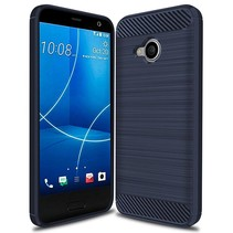 Geborstelde TPU Cover - HTC U11 Life - Blauw