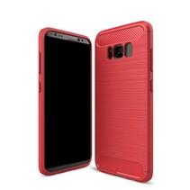 Samsung Galaxy S8 - Geborstelde TPU Cover - Rood