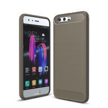 Huawei Honor 9 - Geborstelde TPU Cover - Grijs