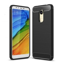 Xiaomi Redmi 5 - Geborstelde TPU Cover - Zwart