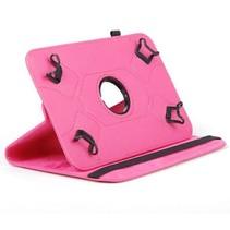 Universele 7 inch tablet case 360 graden draaibaar magenta