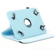 Universele 7 inch tablet case 360 graden draaibaar licht blauw