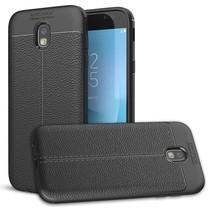 Samsung Galaxy J7 (2017) - Litchi TPU Case - Zwart