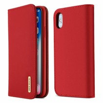 Wish Series Lederen Book Case - iPhone X - Rood