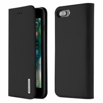 iPhone 7 Plus / iPhone 8 Plus hoesje - Dux Ducis Wish Wallet Book Case - Zwart