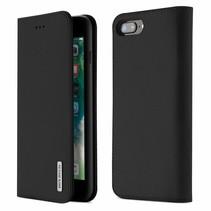 Wish Series Lederen Book Case - iPhone 7 Plus / iPhone 8 Plus- Zwart