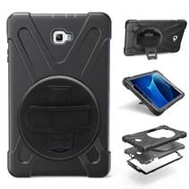 Samsung Galaxy Tab A 10.1 Hand Strap Armor Case - Zwart (2016-2018)