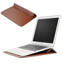 Macbook Air 11.6 Sleeve (met stand functie) - Bruin