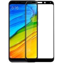 Xiaomi Note 5 Plus -  Full Cover Screenprotector - Zwart
