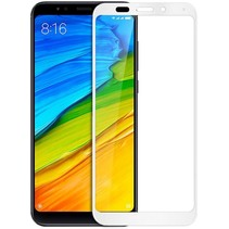 Xiaomi Note 5 - Full Cover Screenprotector - Wit