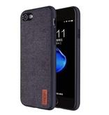 Case2go iPhone 7 / iPhone 8 - Shock Fabric Case - Zwart