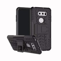 Schokbestendige Back Cover - LG V30s ThinQ - Zwart