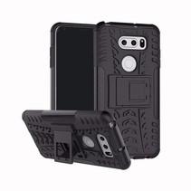 Schokbestendige Back Cover - LG V35 ThinQ - Zwart