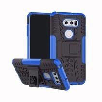 Schokbestendige Back Cover - LG V35 ThinQ - Blauw