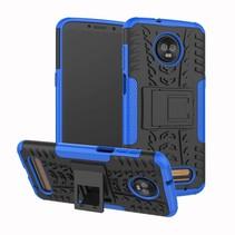 Schokbestendige Back Cover - Motorola Moto Z3 Play - Blauw