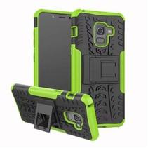 Schokbestendige Back Cover - Samsung Galaxy A8 Plus - Groen