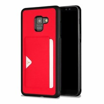 Dux Ducis - Samsung Galaxy A8 Plus (2018) hoesje - Pocard Series - Back Cover - Rood