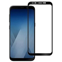 Samsung Galaxy A8 Plus 2018 - Full Cover Screenprotector - Gehard Glas - Zwart