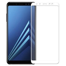 Samsung Galaxy A8 Plus 2018 - Full Cover Screenprotector - Wit