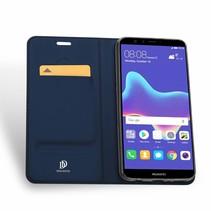 Huawei Y9 (2018) hoesje - Dux Ducis Skin Pro Book Case - Blauw