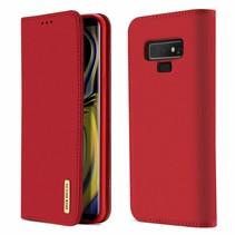 Wish Series Lederen Book Case - Samsung Galaxy Note 9 - Rood