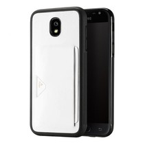 Dux Ducis - Samsung Galaxy J3 (2017) hoesje - Pocard Series - Back Cover - Wit