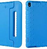 Case2go Schokbestendige hoes met handvat - Lenovo Tab 4 10 Plus - Blauw