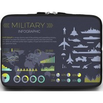 Macbook en Laptop sleeve - 13.3 inch - Military Infographic