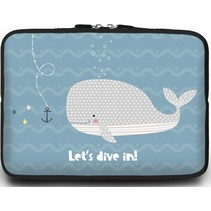 Macbook en Laptop sleeve - 13.3 inch - Let's Dive In