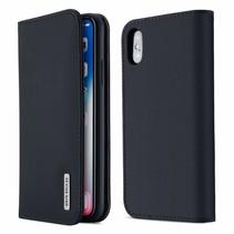 Wish Series Lederen Book Case - iPhone XS MAX - Blauw